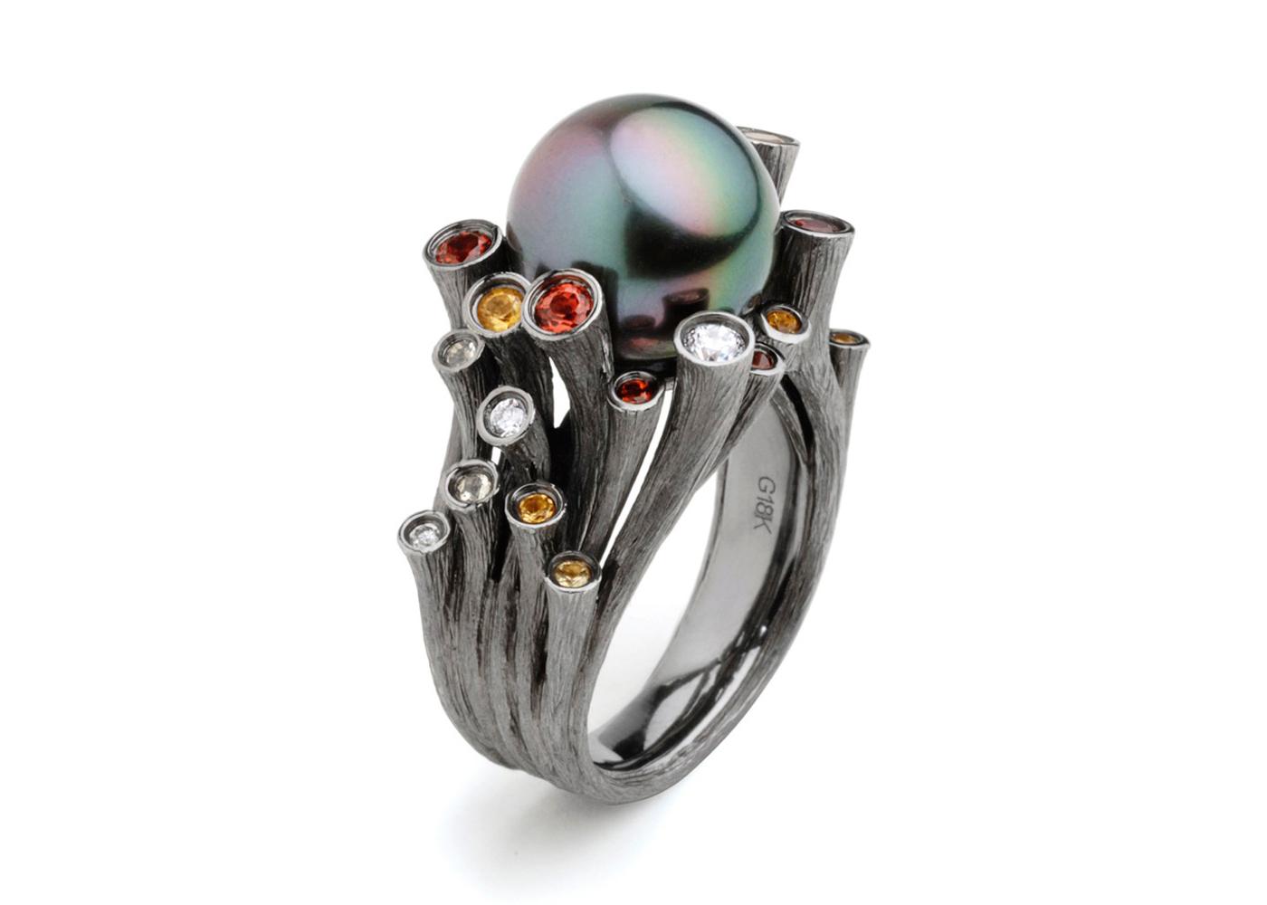 Черное кольцо фото 5